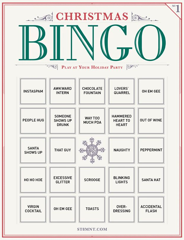 Crush image for free christmas bingo cards printable