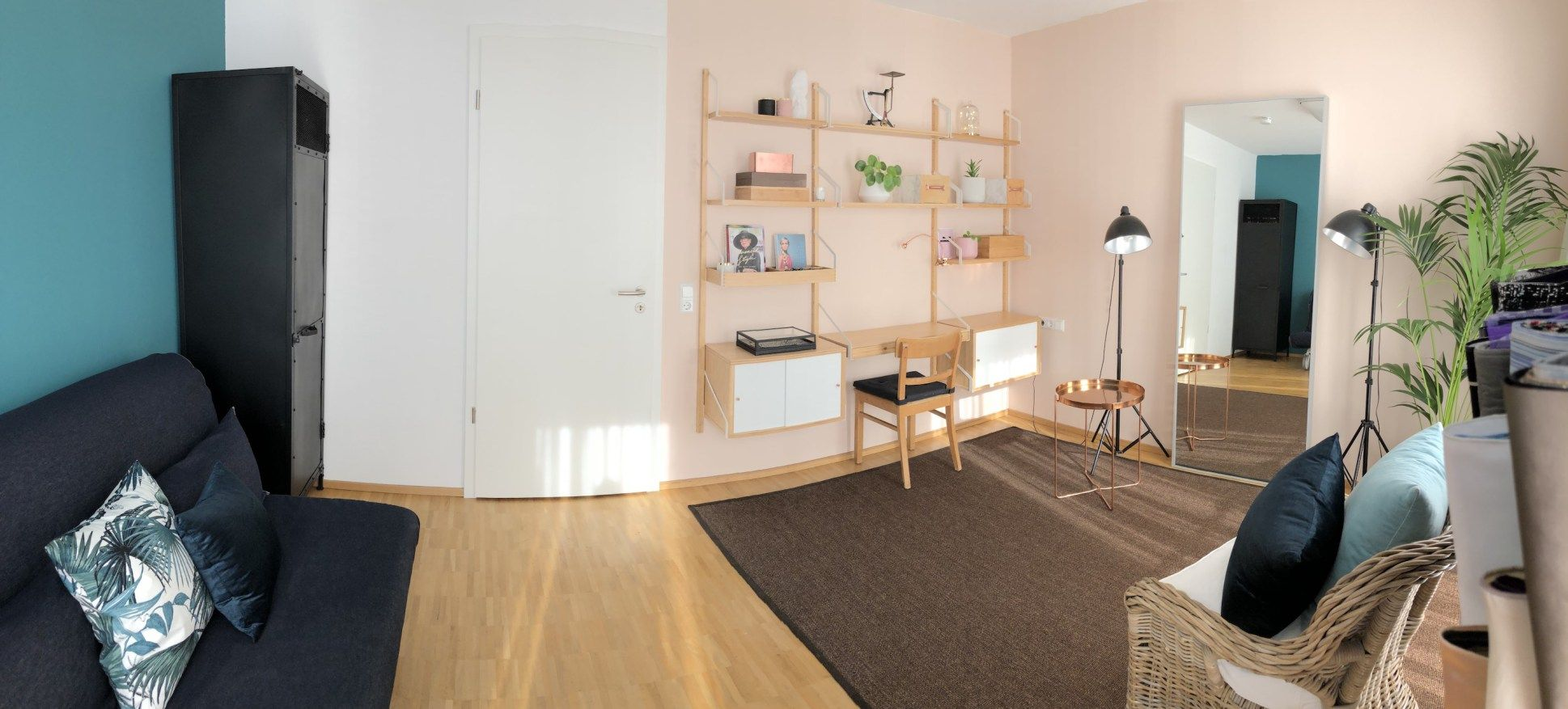 Panoramabild Stil In Nürnberg Beratungsatelier Stil In Nürnberg Farbberatung Stilberatung Millennial Pink Ikea Svalnäs Copper Haus Deko Stil Beratung Stil