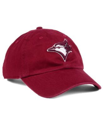 2004c14f3072  47 Brand Toronto Blue Jays Cardinal and White Clean Up Cap - Red  Adjustable.