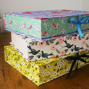 patterned keepsake box file - Decorative File Boxes