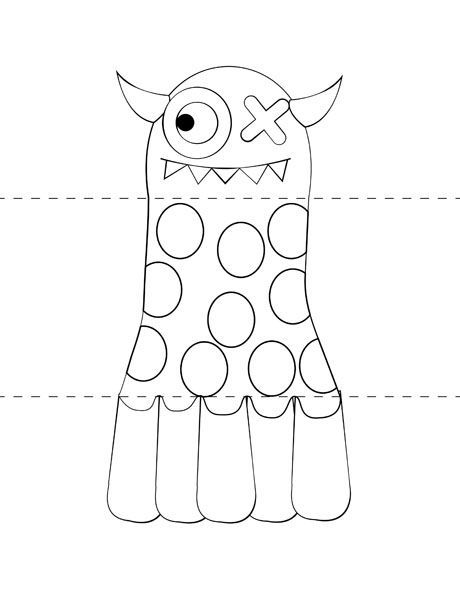 Printable make your own monster craft from print cut paste craft com