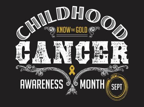 In honor of dawn my sister who passed away from leukemia and Kylie and my survivor  makayla go gold