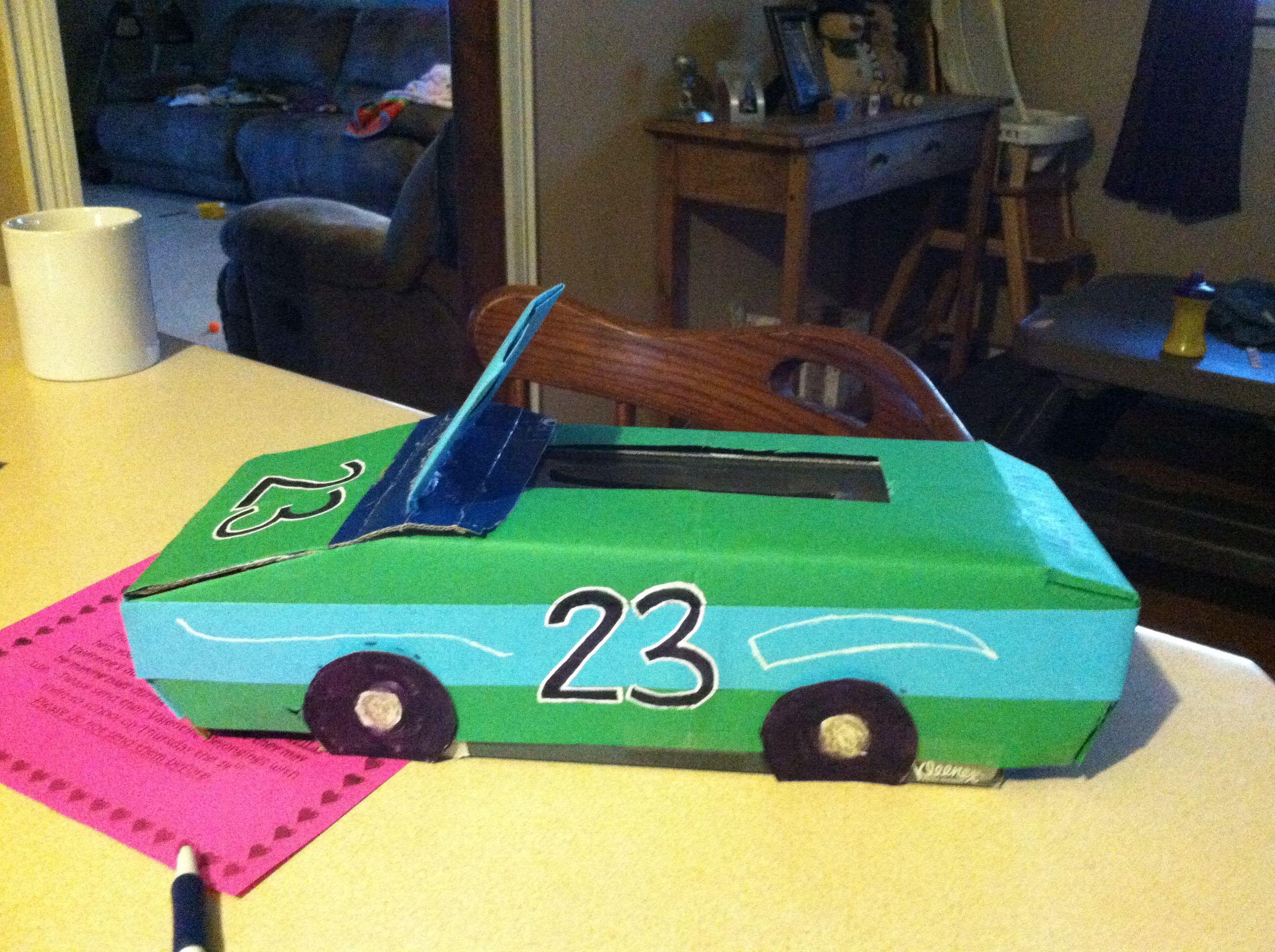 Race Car Valentine Box