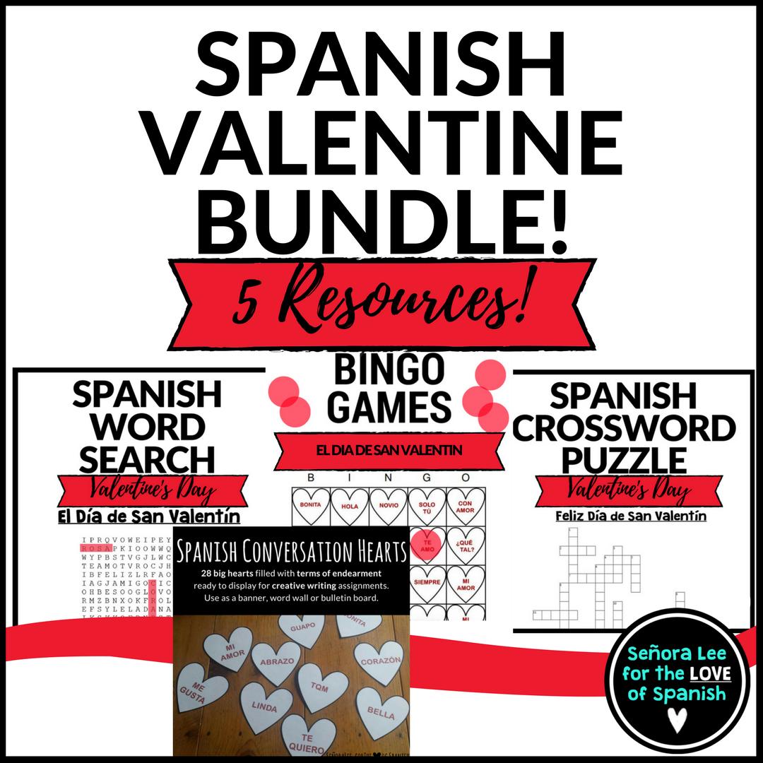 Spanish Valentine S Day Activities