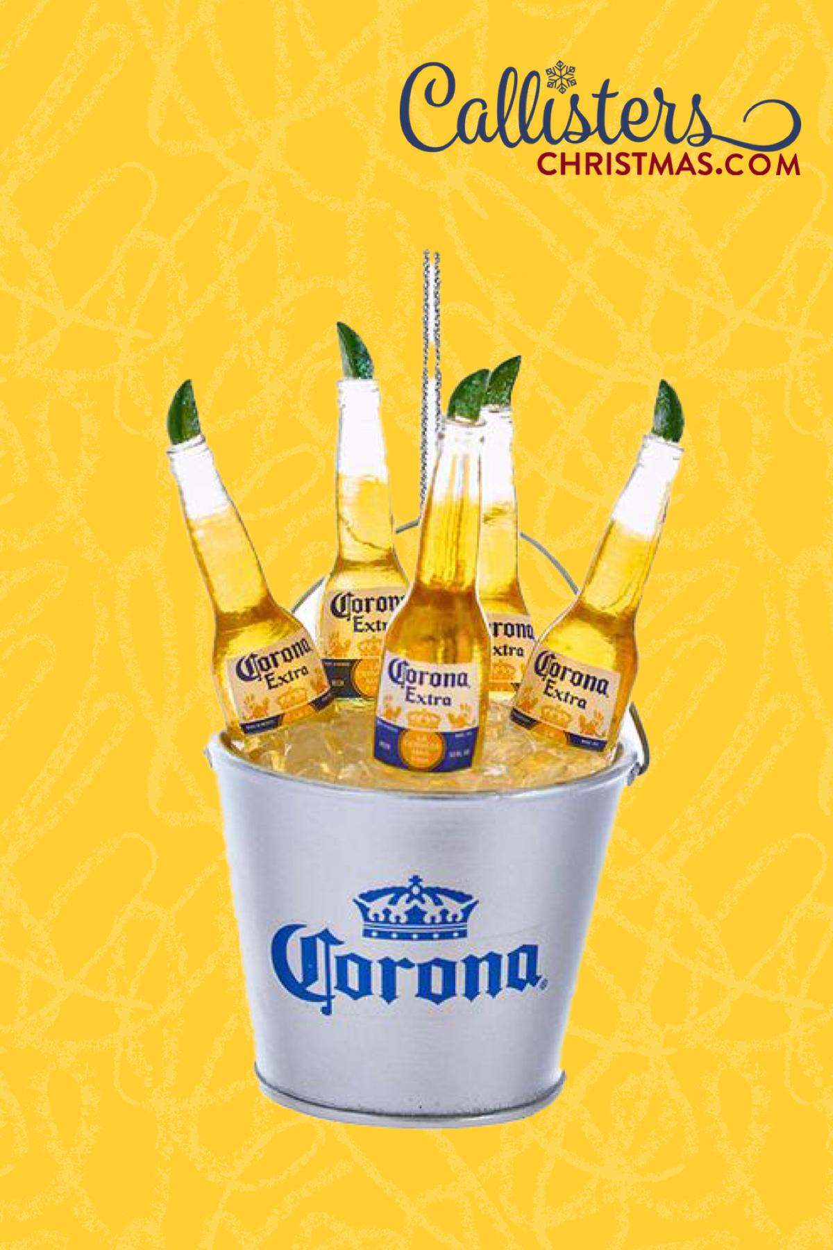 Corona Bottles In Ice Bucket Ornament In 2020 Ice Bucket Corona Bottle Beer Bucket
