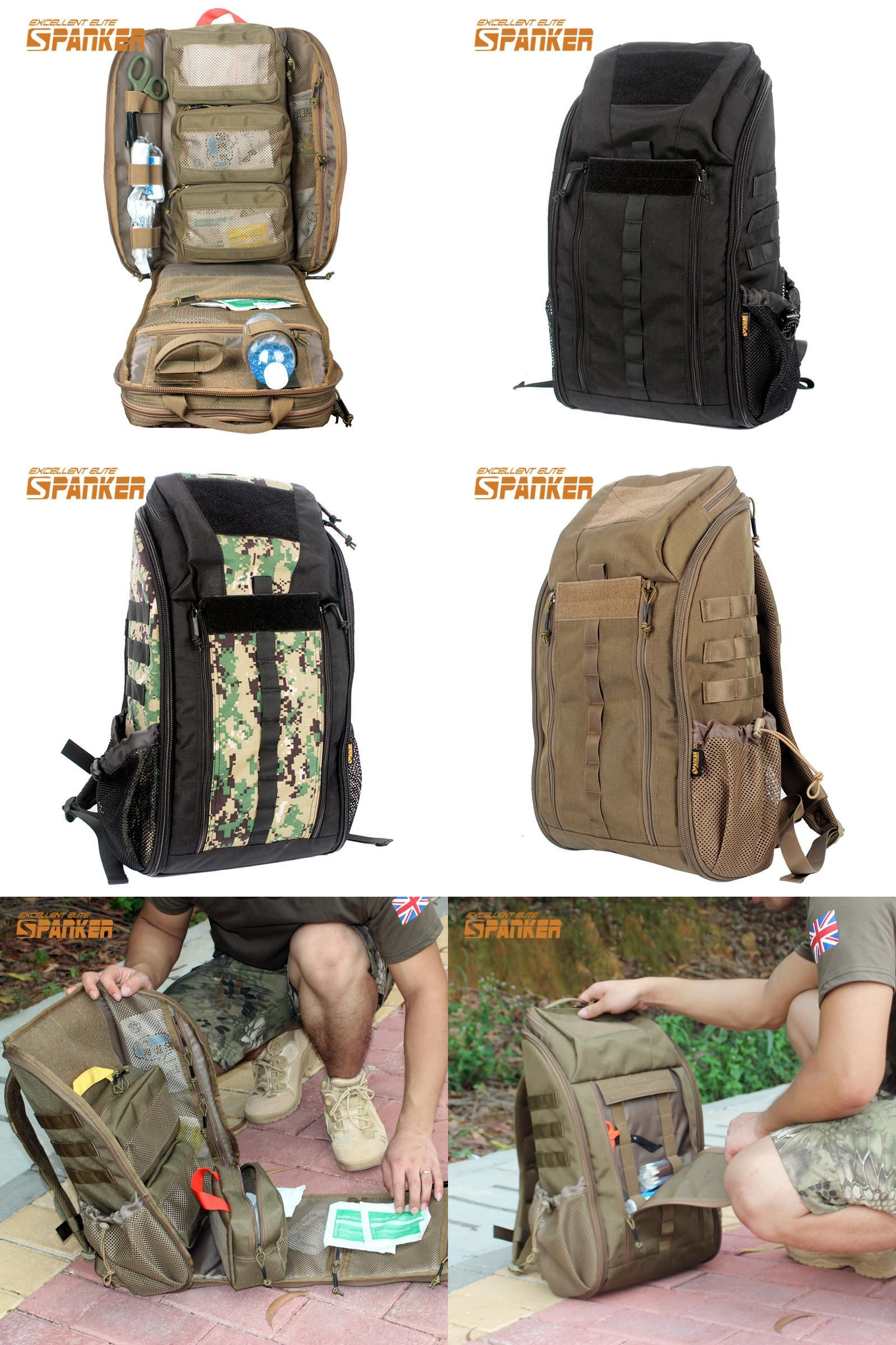 b5b9f46702209f [Visit to Buy] SPANKER Tactical MOLLE Medical Backpack Military First Aid  Kit Backpack Emergency Assault Combat Rucksack Outdoor Hunting Bags  #Advertisement