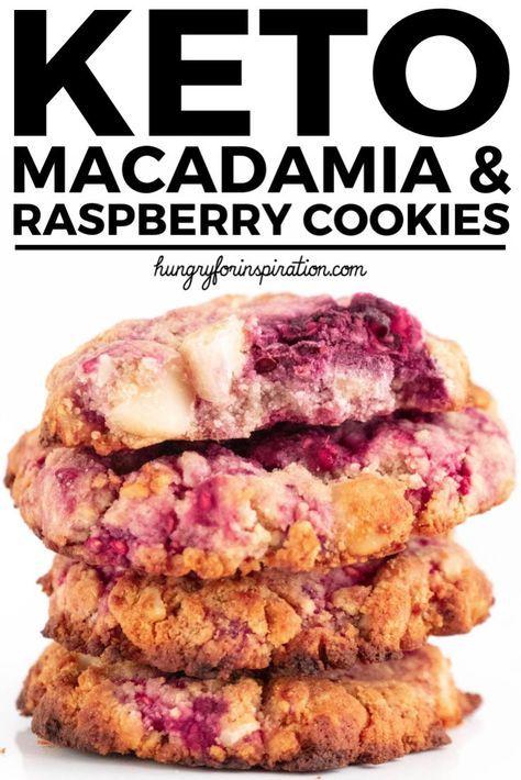 Keto Macadamia Raspberry Cookies (Guilt-Free Keto Cookies)