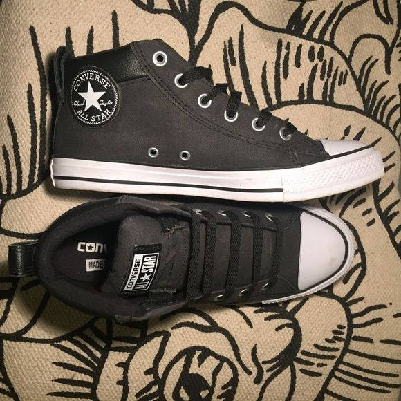 da4a96019431 Converse Mid-Top Padded Skate Shoe These deep gray Converse sneakers  feature a padded ankle