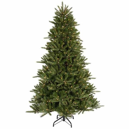 95\u0027 Vermont Fir Instant Shape Artificial Christmas Tree with Clear