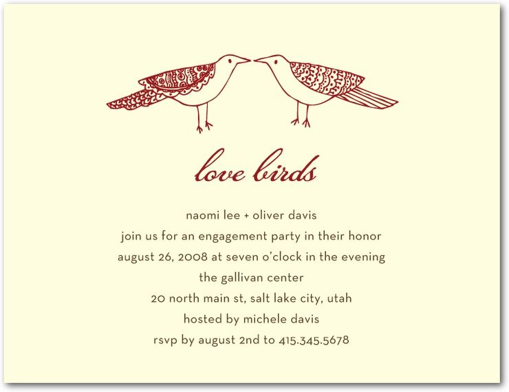 Wedding Stationery Wednesday Engagement Party Invitations