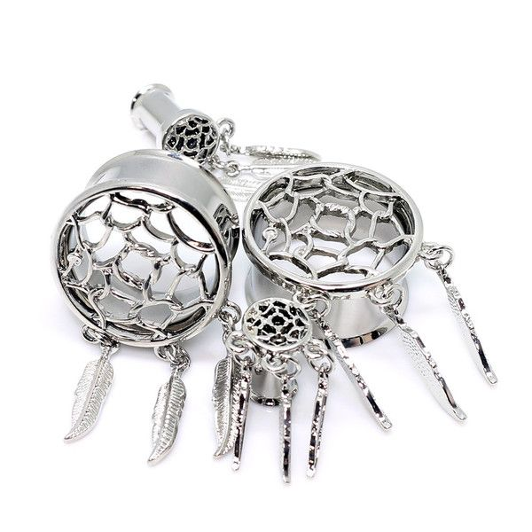 Stainless Steel Dream Catcher Tunnels Plugs Pinterest Dream Magnificent Dream Catcher Tunnels