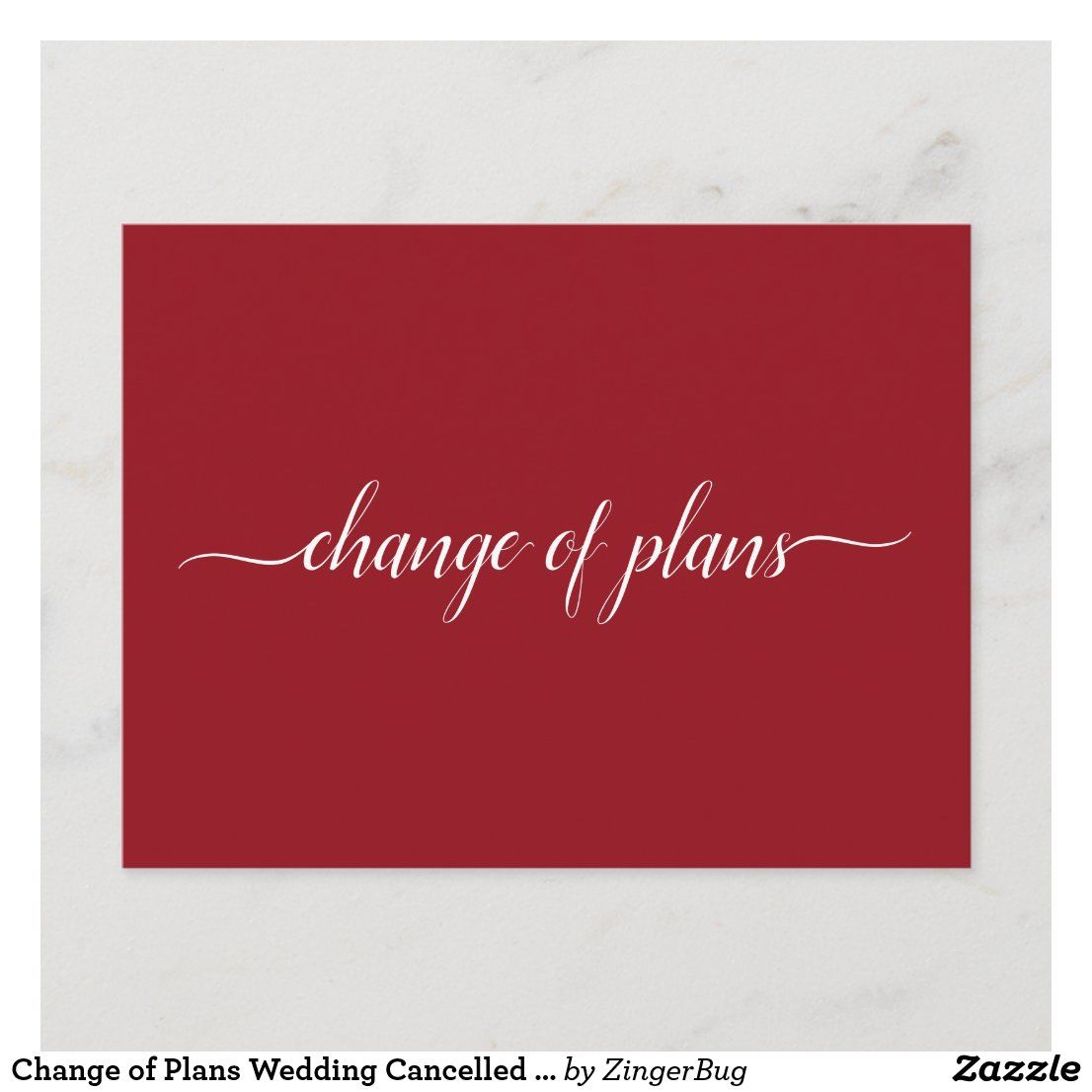 Change of plans wedding cancelled postponed red