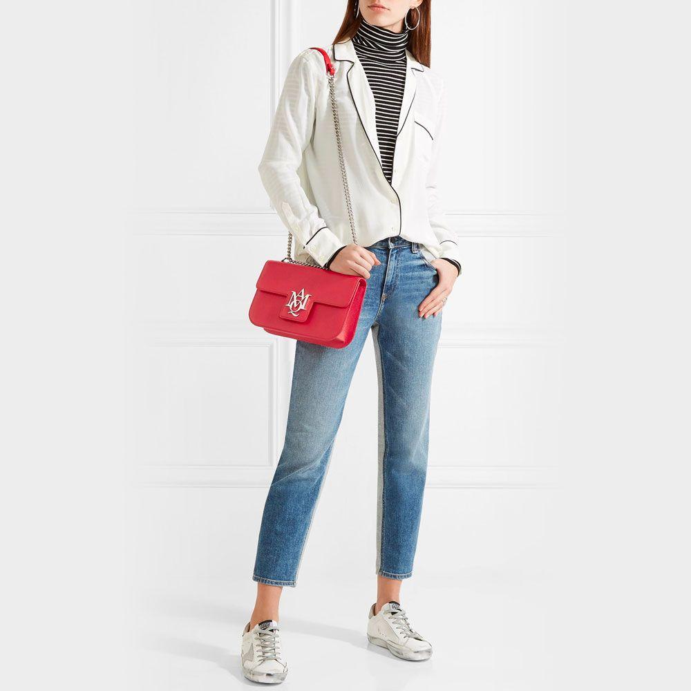 Chain Handle Shoulder Bag & Sneakers
