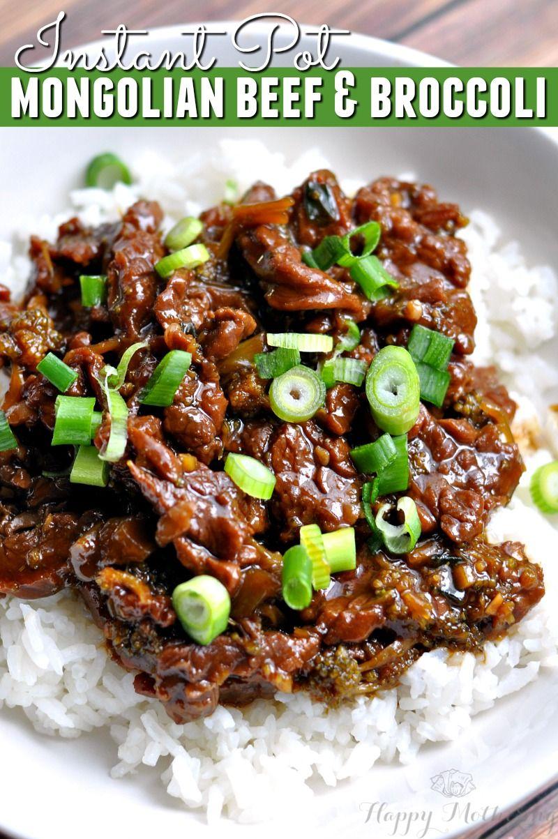 Instant Pot Mongolian Beef & Broccoli #instantpotrecipes