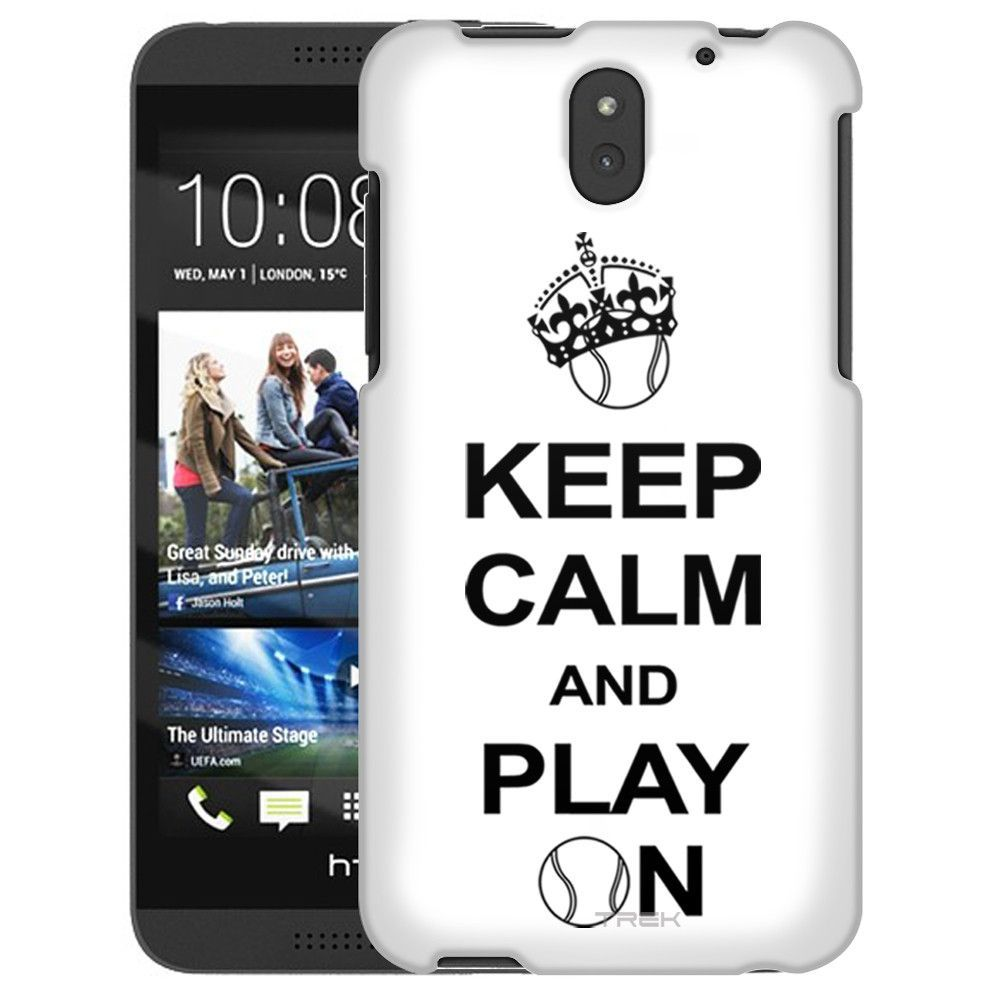 HTC Desire 610 KEEP CALM And Play On - Tennis on White Slim Case