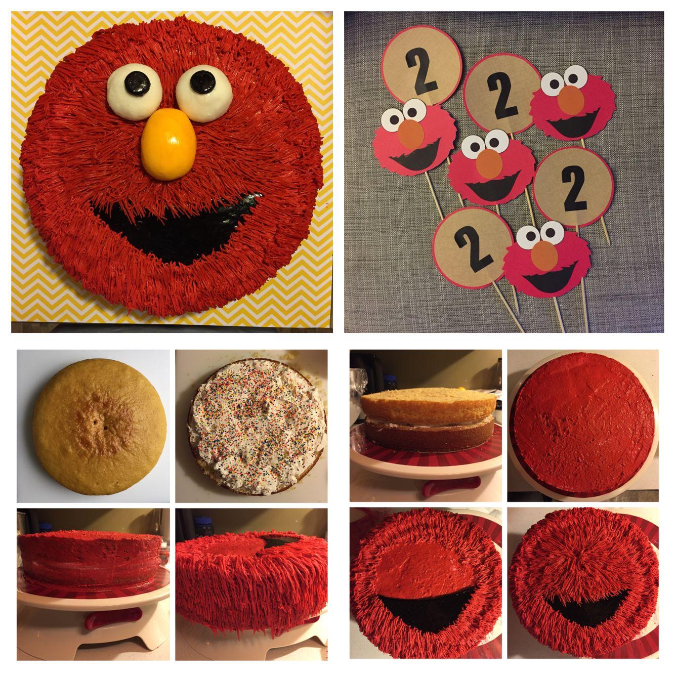 Peachy Diy Elmo Cake And Table Numbers Diy Elmo Birthday Cake Elmo Funny Birthday Cards Online Bapapcheapnameinfo