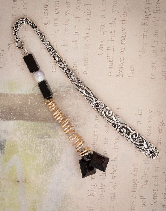 Black and Metal Bookmark