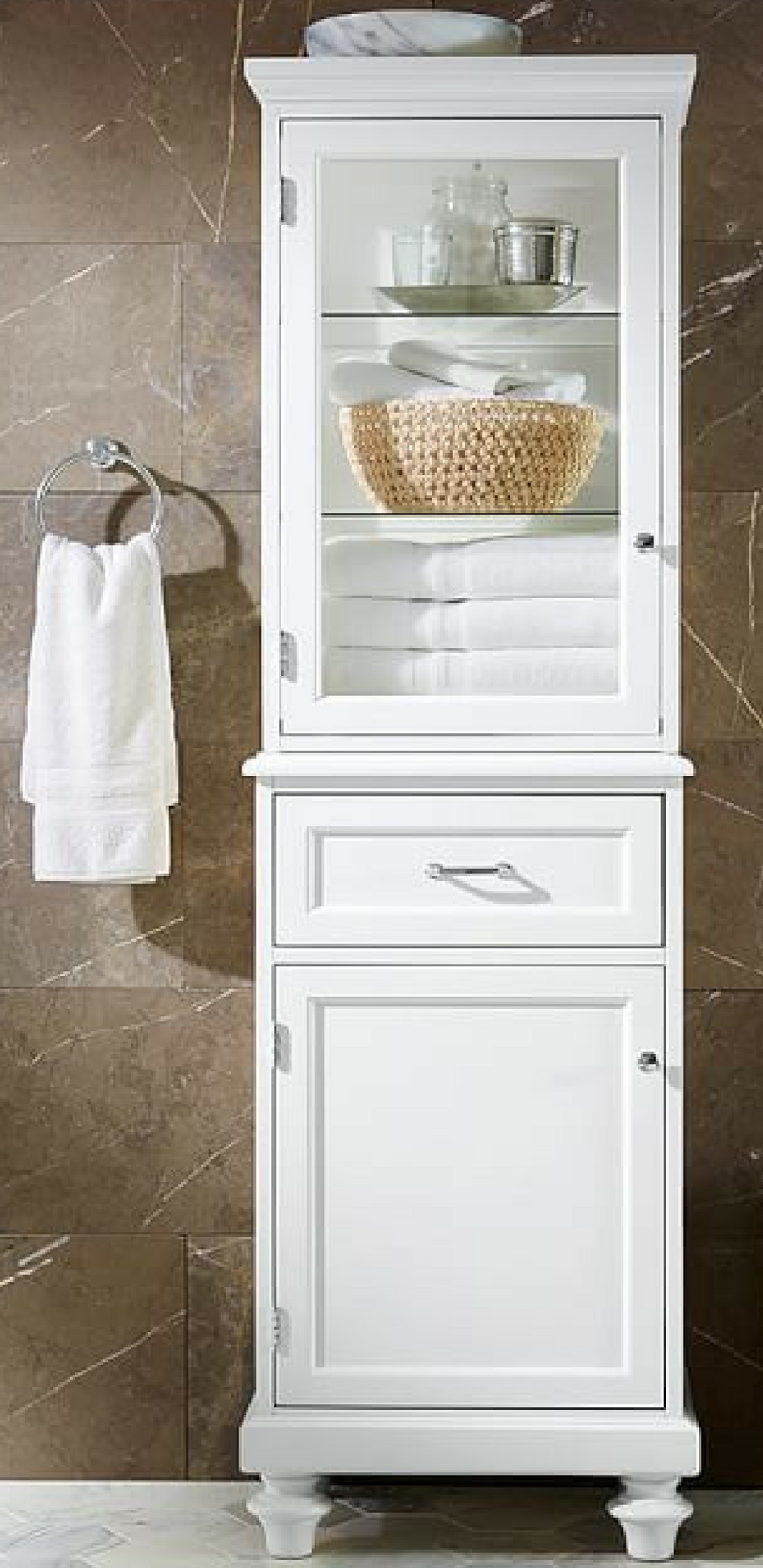 Attirant Styled Like A Vintage Linen Closet, This Cabinet Offers Generous Storage In  A Compact Footprint. #ad #storage #bathroom