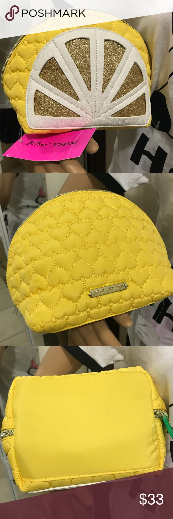 Betsy Johnson 🍋 cosmetic bag Pop up with this Lemon