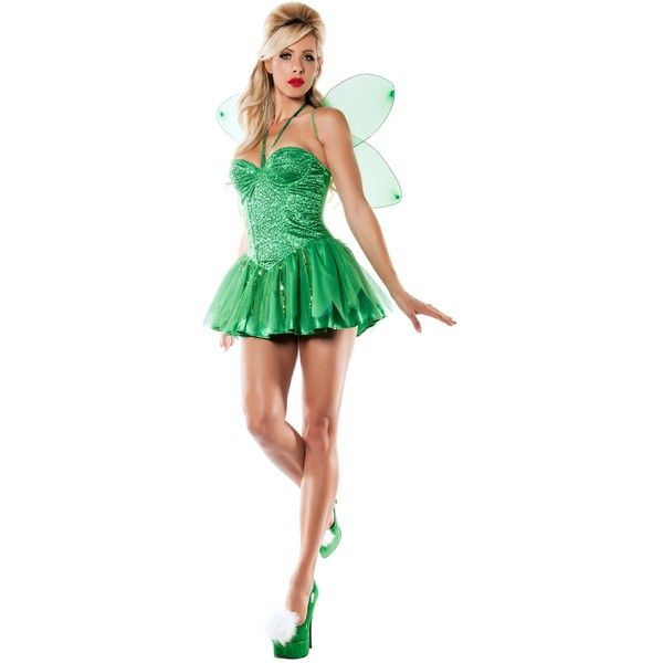 Womens Tinkerbell Fairy Costume ($60) ? liked on Polyvore featuring costumes outfit  sc 1 st  Pinterest & Womens Tinkerbell Fairy Costume ($60) ? liked on Polyvore featuring ...