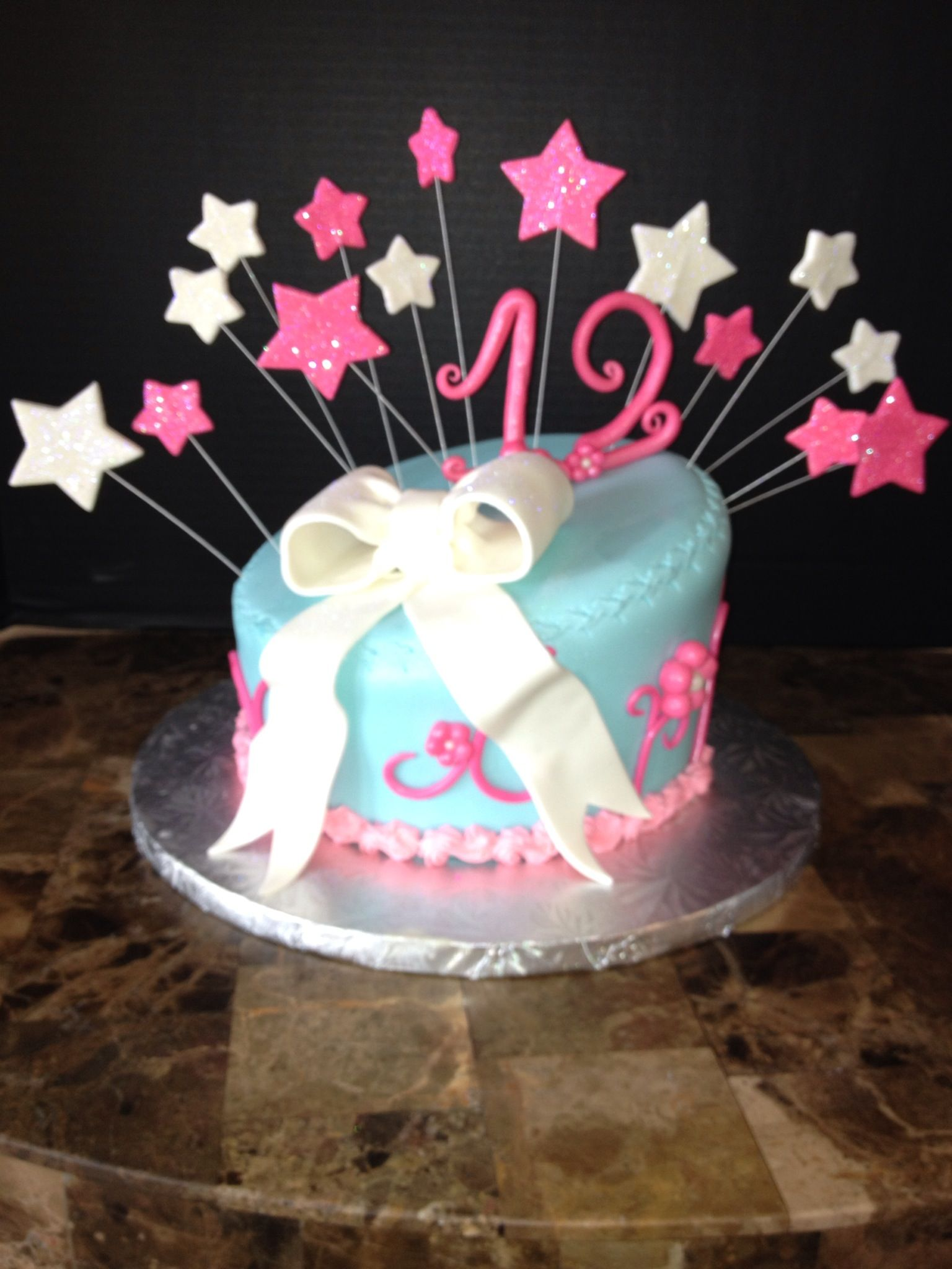12th Birthday Cake Simple And Sweet