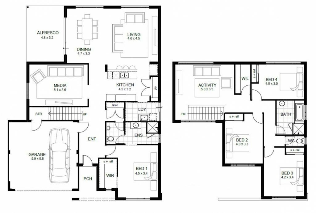 Luxury Sle Floor Plans 2 Story Home New Home Plans Design 2 Storey House Design Simple Floor Plans House Floor Plans