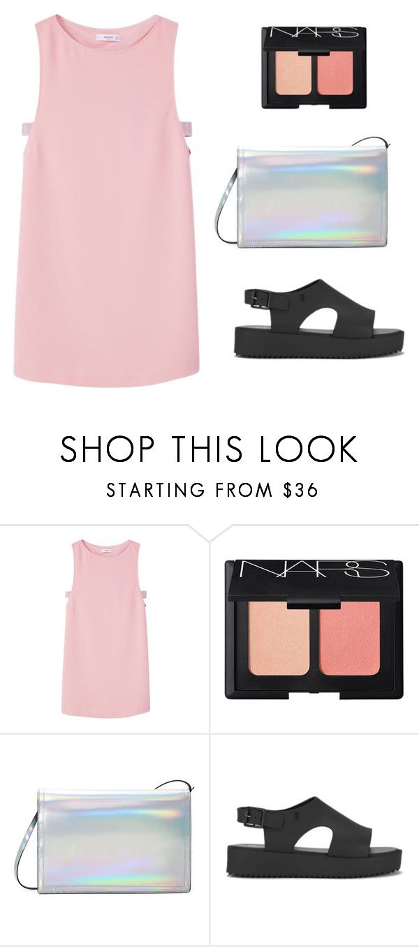 """""""cute"""" by tumblera ❤ liked on Polyvore featuring MANGO, NARS Cosmetics, Zara, Melissa and halterdresses"""