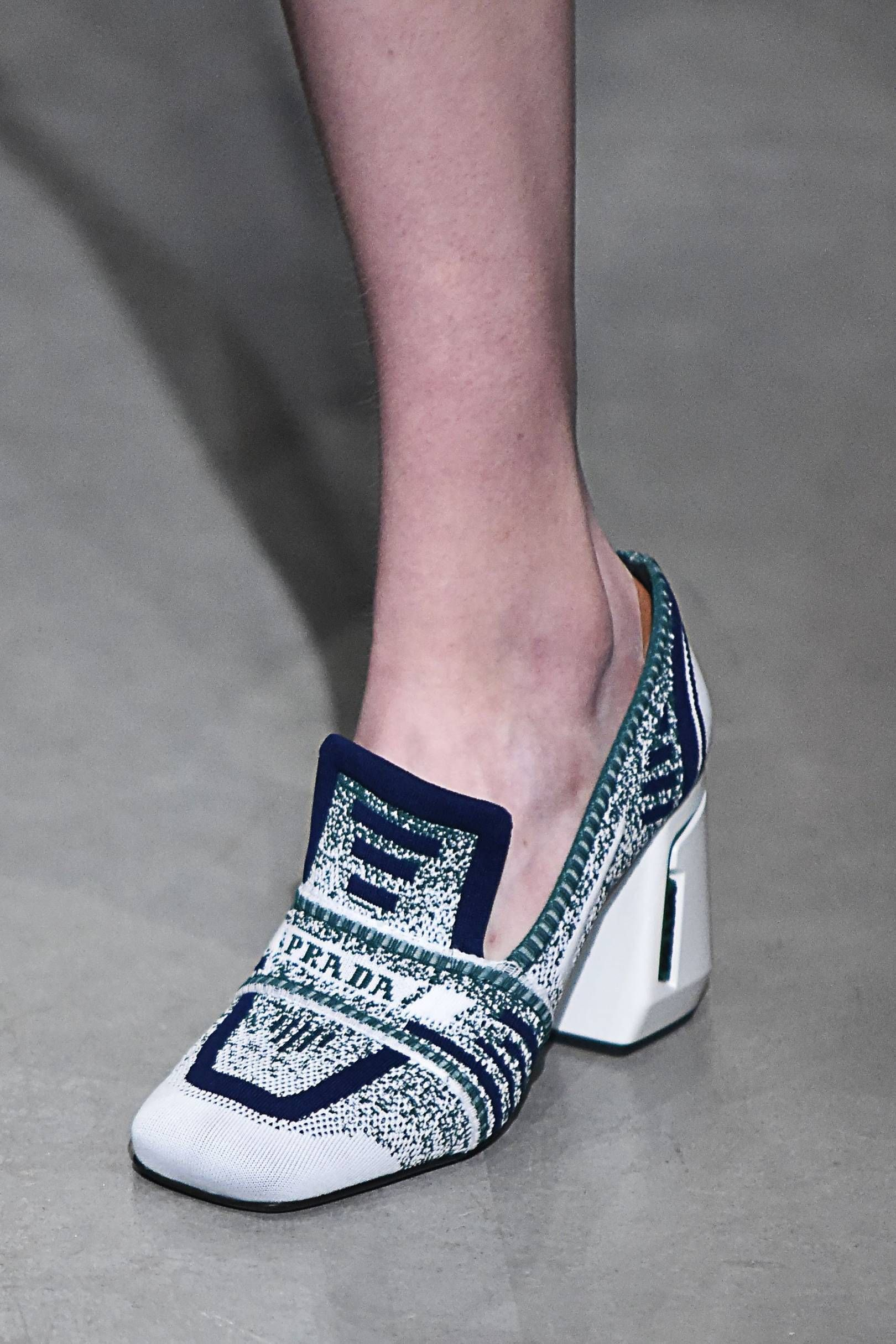 765dd879b93 Miuccia Prada s weakness for stacked-heeled Seventies loafers shows no  signs of abating  having debuted the style in the Nineties