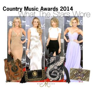 Our take on the stars at the 2014 CMAs. #CMA #countrymusic #guitar #handbags #accessories #maryfrances
