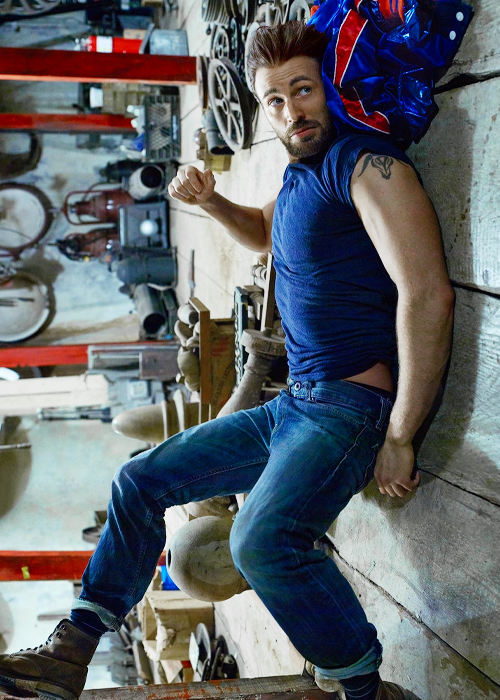"""dailychrisevans: """"Chris Evans photographed by Peggy Sirota for Rolling Stone Magazine (2016) """""""