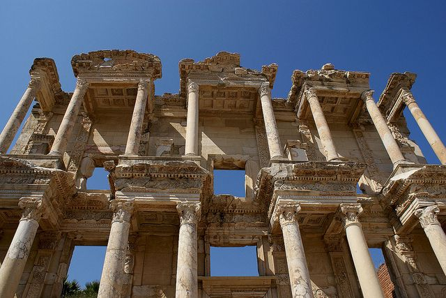 Library of Celsus in Ephesus, Izmir, Turkey. Built c. 125 AD.