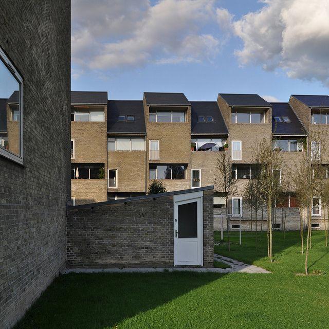 Arne Jacobsen Allehusene Housing Gentofte 1949 1953 Facade Danmark