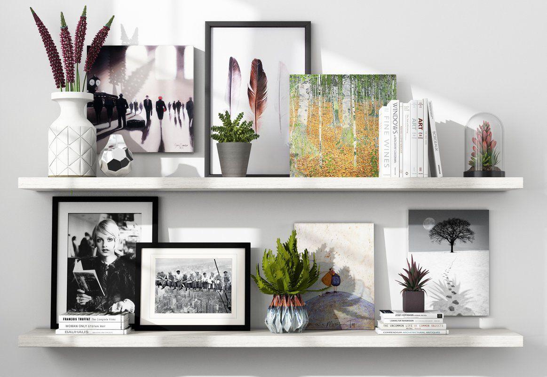 Wandbild Wintermond. Dekoratives Regal. Bildergalerie im Wohnzimmer ...