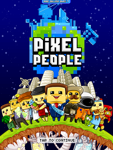 Pixel People is a cute futuristic city-building game for the
