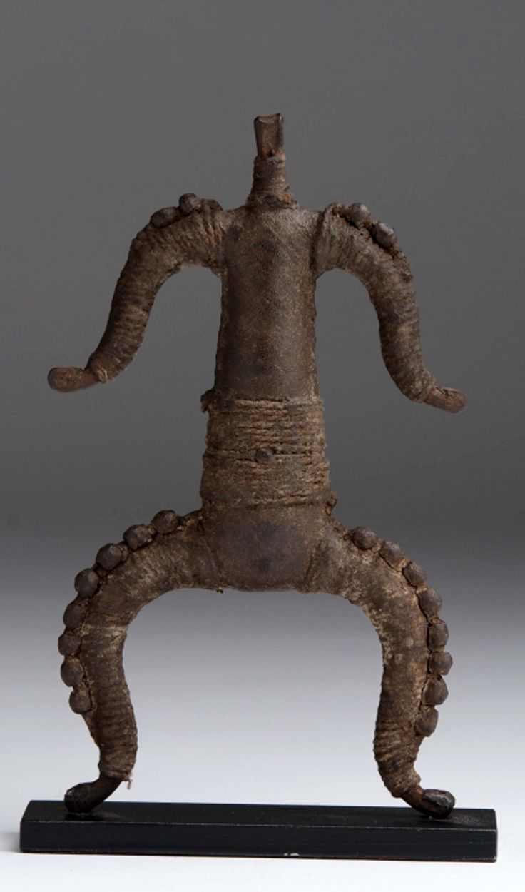 Africa | Doll from the Kirdi people of northern Cameroon | Leather and iron