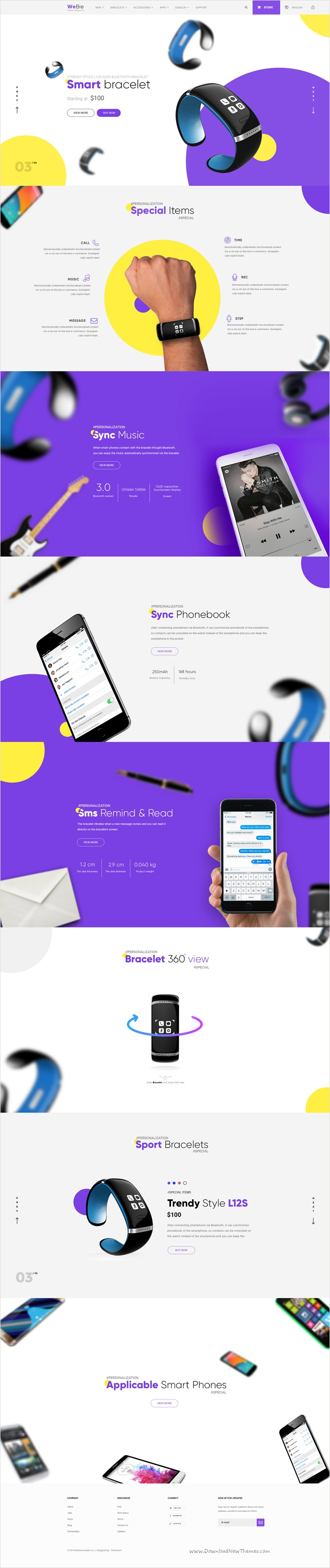 WeBie Is A Wonderful PSD Template For Single Products Designed - Single product ecommerce template