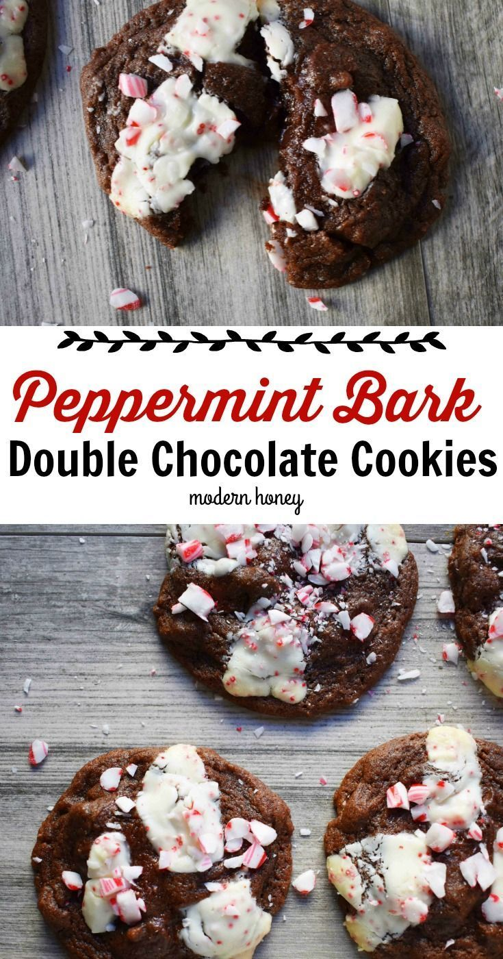 Peppermint Bark Double Chocolate Cookies Chewy Decadent Chocolate