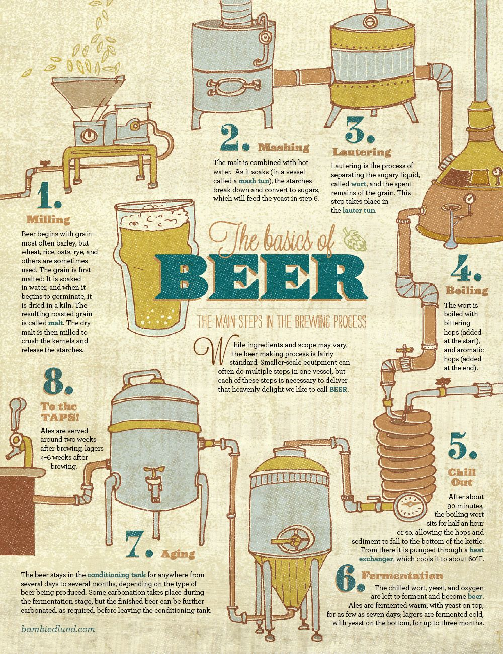 The Basics of Beer  http://bambiedlund.com/illustrations/the-basics-of-beer-4/