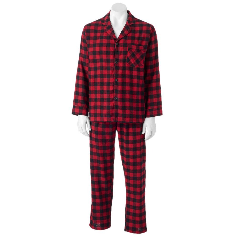 Big flannel outfits  Big u Tall Hanes Plaid Flannel Pajama Set  Products  Pinterest