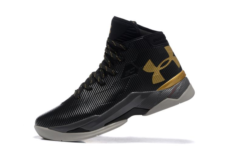5abfc363cac1 under armour curry 2.5 black gold cheap new mens shoes