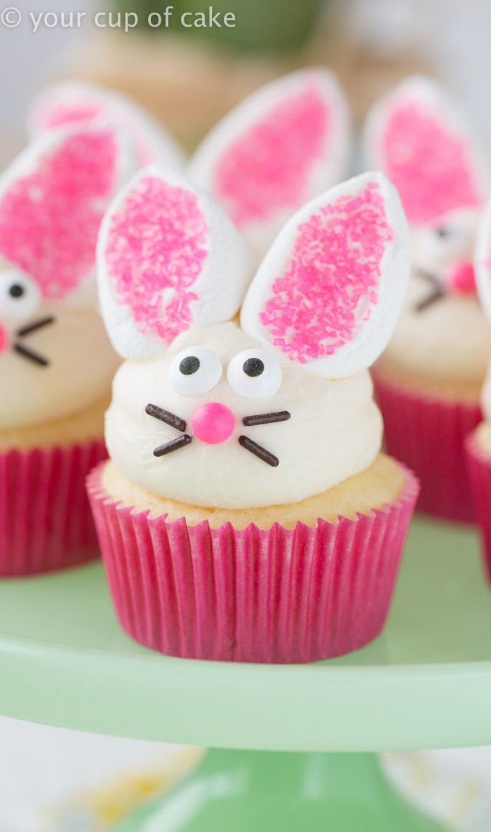 Easy Bunny Cupcakes With Marshmallow Ears So Cute And Way Easy