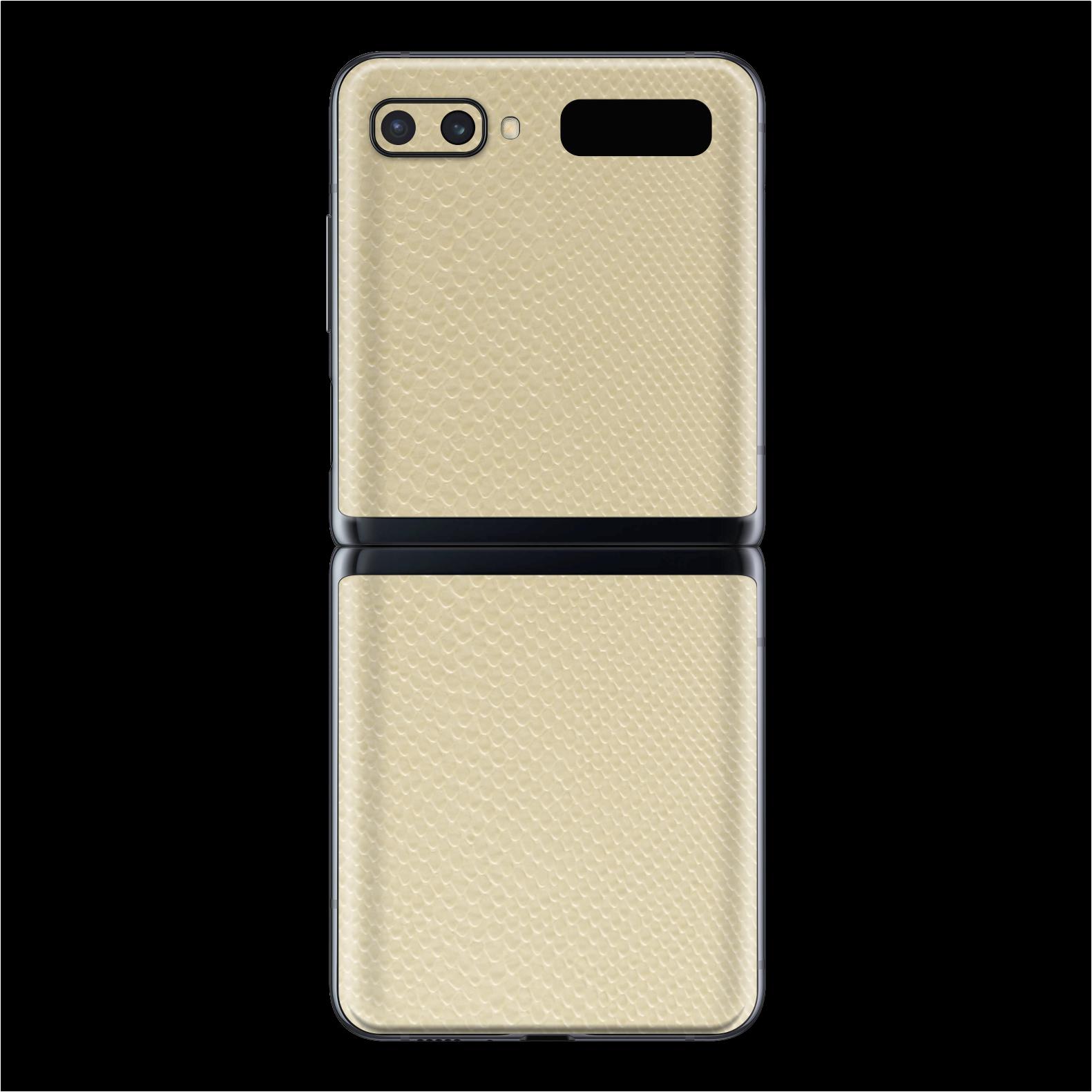 Samsung Galaxy Z Flip BEIGE MAMBA Snake Skin