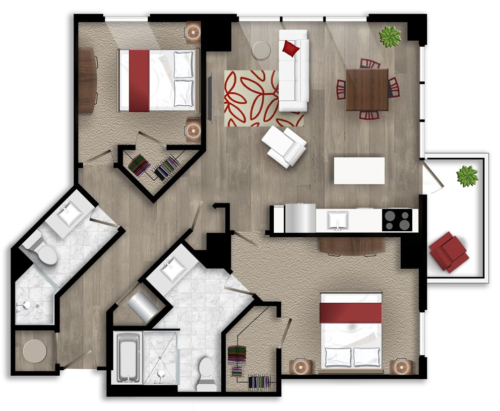 Pin by Icon Midtown Atlanta Apartments on Two bedroom