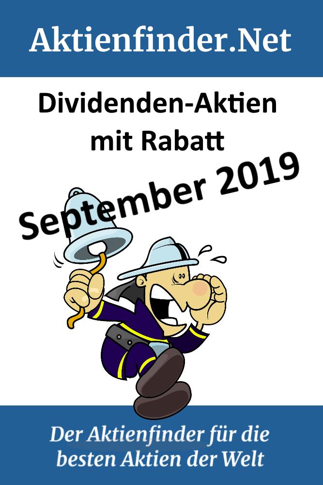 DividendenAktien mit Rabatt September 2019 in 2020