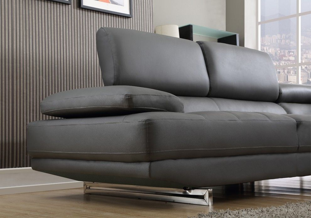 Milano Grey Leather Corner Sofa Right/Hand More | Living Room | Pinterest |  Grey Leather Corner Sofa, Gray And Living Rooms