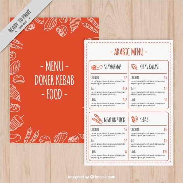 Pin by Сергей on МЕНЮ Pinterest Menu templates, Arabic food - sample menu template