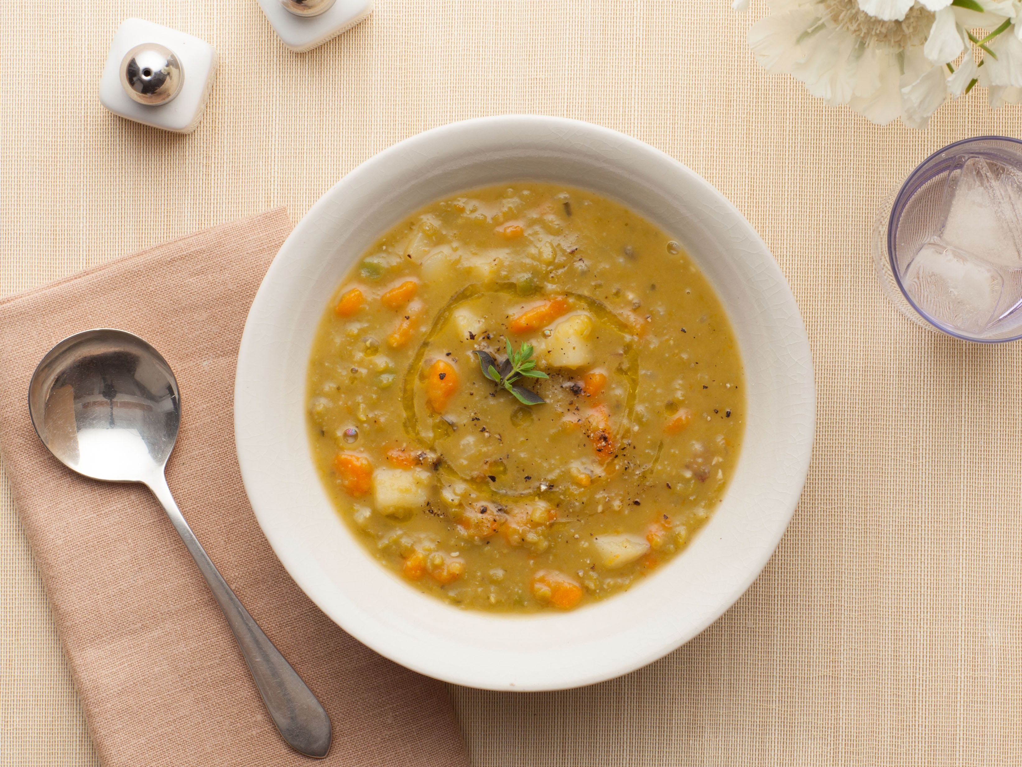 Recipe of the Day: Ina's Split Pea Soup Split pea soup is a comfort ...