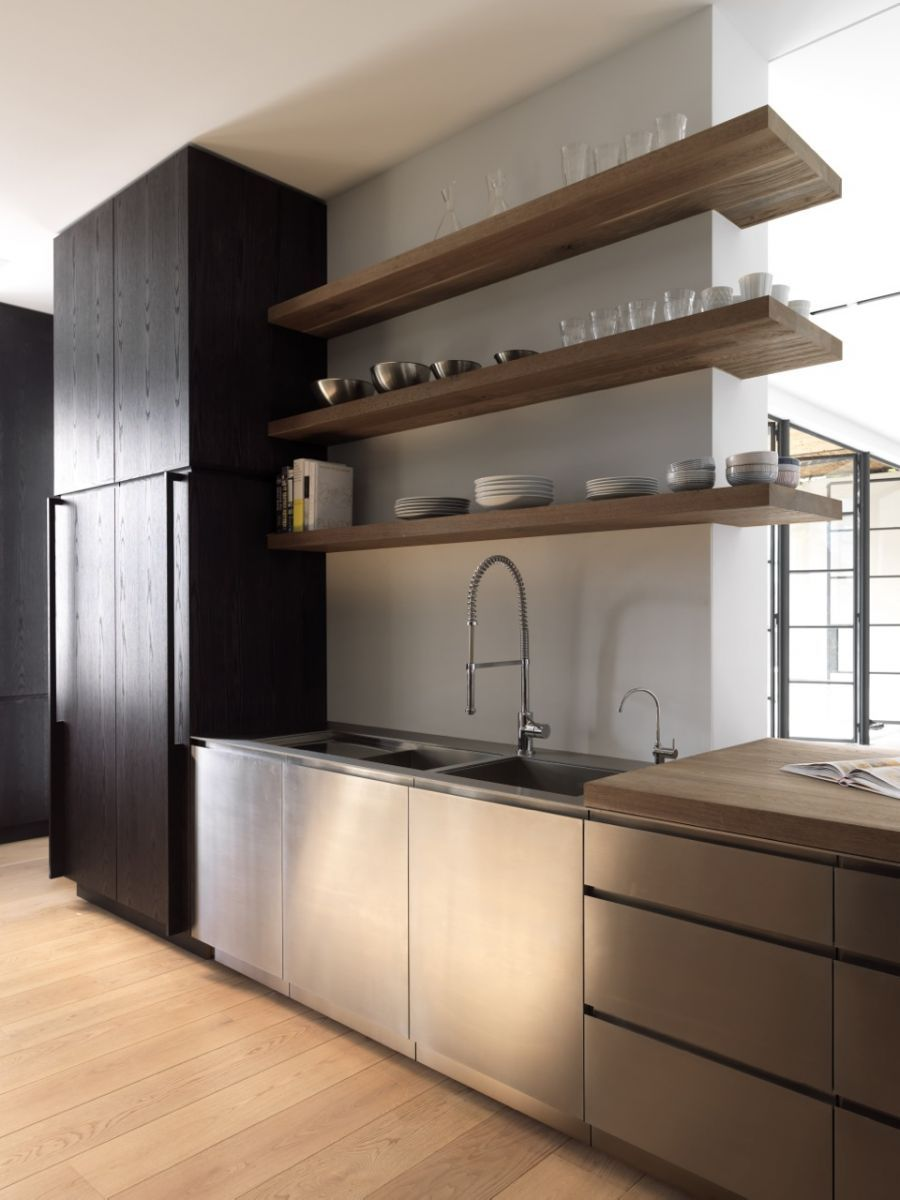 des 2 c t s du meuble frigo une tag re mur droit puis sur le c t gauche comme si l 39 etagere. Black Bedroom Furniture Sets. Home Design Ideas