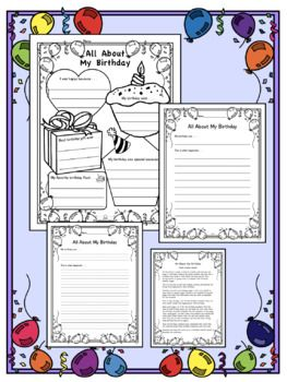 All About My Birthday: Poster, Activity, Reading, Writing ...