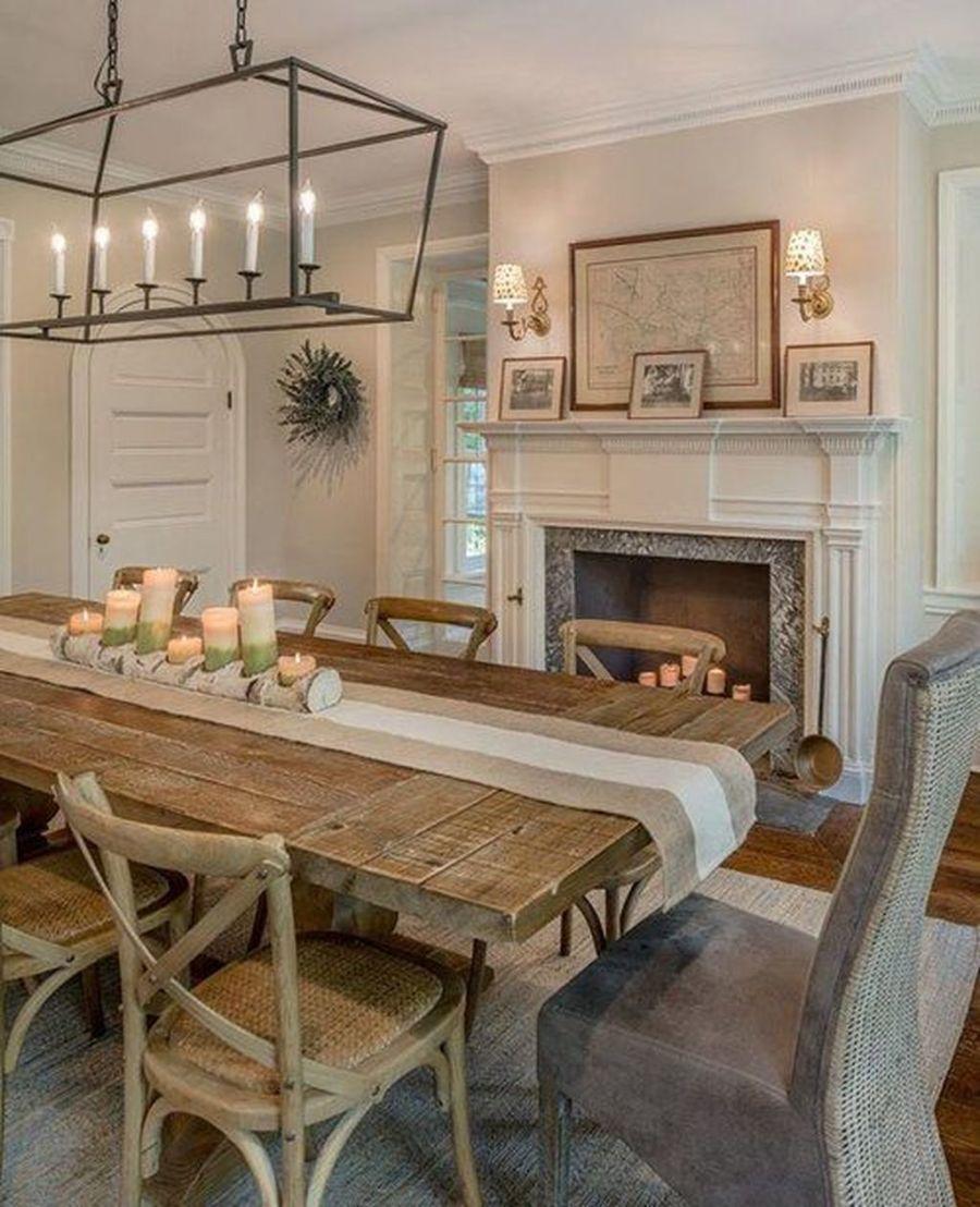 35 Inspiring Farmhouse Dining Room Table Design Ideas in